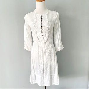 Anthropology Tabitha Polka Dot White Dress 0
